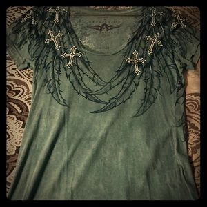 Very cute, Affliction top, V-neck, size M